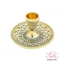 Подсвечник (полиш) на 1 свечу 11х11х6см 120гр Латунь, чеканка