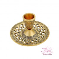Подсвечник (антик) на 1 свечу 11х11х6см 120гр Индийская латунь