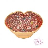 Ваза-фруктовница (эмаль красная) 115 гр