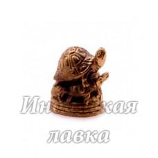 Фигурка Черепахи бронза 2 х 2 см
