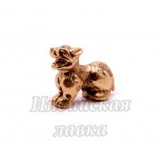Фигурка Собака Фу, бронза, 2 х 3 см.