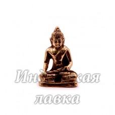 Фигурка Будда сидит, бронза, 3,5 х 2 см.