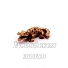 Фигурка Крокодил, бронза, 1 х 3,5 см.