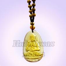 Чётки для медитации под камень с подвеской Будда, 6мм, 38см, 108 бусин.