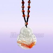 Чётки для медитации под камень с подвеской Хотей 6мм, 38см, 108 бусин