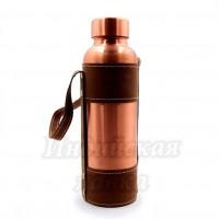 Медная бутылка для настаивания медной воды горлышко-d-4,5см h-25см 1000ml