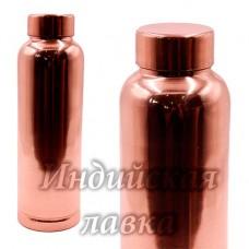 Медная бутылка для настаивания медной воды d-7,5см h-25см 900ml