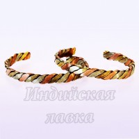 Браслет Медный плетеный 3 металла Индия