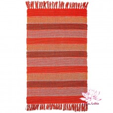 Коврик самотканый 100% хлопок 60х90см - красный