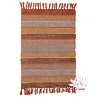 Коврик самотканый 100% хлопок 60х90см - коричневый