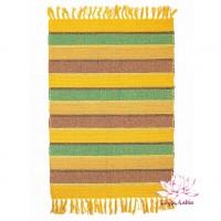Коврик самотканый 100% хлопок 60х90см - жёлто-зелёный