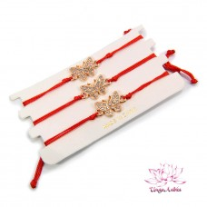 Браслет Красная нить с Бабочкой - символ привлекательности 1шт