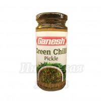 Пикули Зелёный Чили Ganesh Green Chilli pickle, 250г