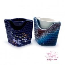 Аромалампа Фиолент керамика в глазури 10см-12см-7см