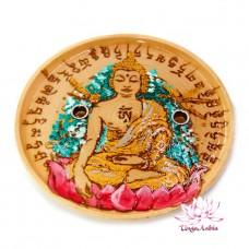Деревянная подставка под благовония Будда 10см символизирует удачу и защиту