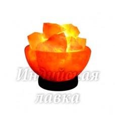"""Соляной светильник """"Чаша с камнями"""" 2-3 кг"""