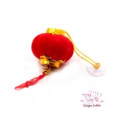 Китайский фонарик Красный праздничный h-4см
