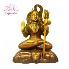 Статуэтка Шива с трезубцем, бронза, 19,5 х 13,5 х 10 см