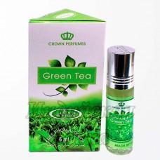 Арабские Масляные Духи Green Tea, женские, 6 мл, AL-REHAB